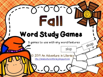 Word Study Games (Any Word Feature) Fall