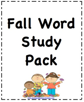 Fall Word Study/Spelling Companion Pack