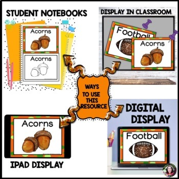 Fall Word Wall Cards