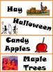 Fall Word Wall Cards with Illustrations