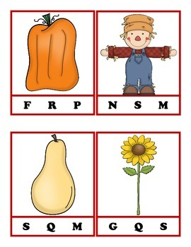 Fall Word Wall & First Sounds: Early Learning Pack