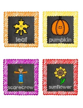 Fall Word Wall Freebie