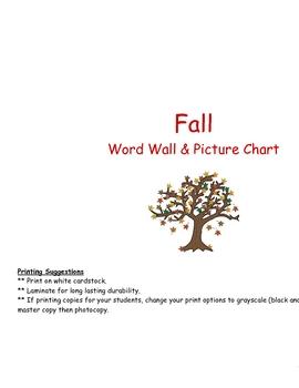 Fall Word Wall Set