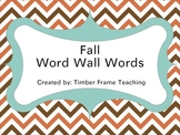 Fall Word Wall Word Cards - 64 Words!