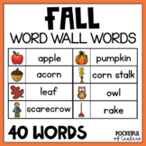Fall Word Wall Words {FREE}