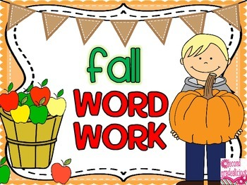 Word Work for Fall and Halloween