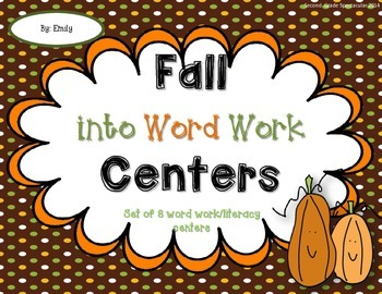Fall Word Work Centers