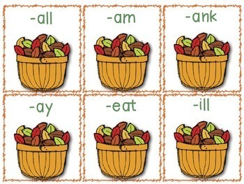 Fall Word Work Centers: ABC Order, Word Families, Parts of Speech, Contractions
