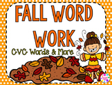 Fall Word Work Packet