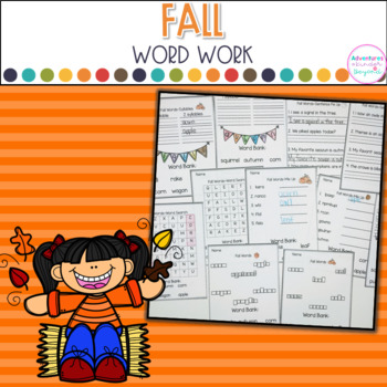 Fall Word Work Printables