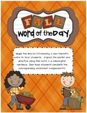Fall Word of the Day