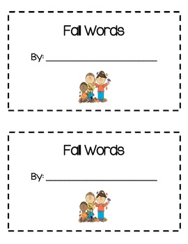 Fall Words Book