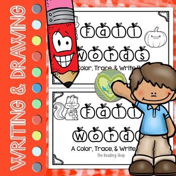 Fall Words Book - Color, Trace, & Write