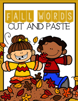 Fall Words (Cut and Paste)