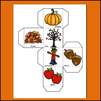 Fall Words, Fall Activities, Learning Cube, Math, Graphing, Poetry Word Search