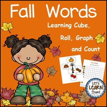 Fall Words, Fall Activities, Learning Cube, Math, Graphing