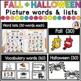 Fall vocabulary words and pictures | Halloween Words