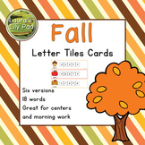 Fall Words Letter Tiles Cards