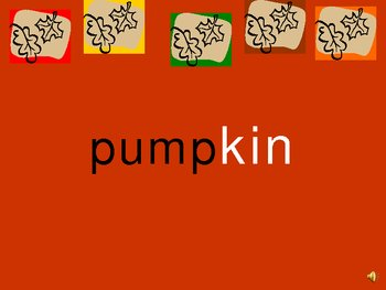 Fall Words PowerPoint