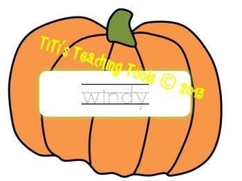 Fall Words Pumpkin Pack
