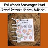 Fall Words Scavenger Hunt