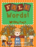 Fall Words! Writing Pack
