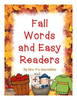 Fall Words and Easy Readers