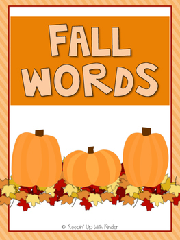 Mini Word Wall - Fall Themed