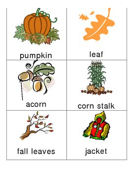 Fall Words and Vocabulary for Kindergarten Writers