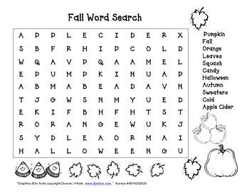 Fall Wordsearch
