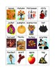 Fall Wordwall Words-Autumn Vocabulary for Writing Center or Make-A-Match game