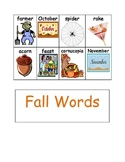 Fall Wordwall Words-Autumn Vocabulary for Writing Center o