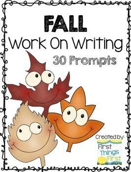 Fall Work on Writing