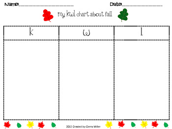 Fall Worksheet math and writing pack
