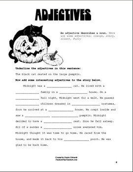 Fall Worksheets--Compound Words and Parts of Speech