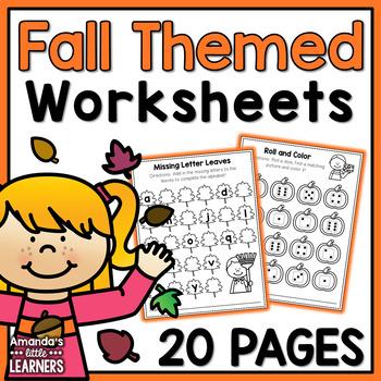 Fall Worksheets - No Prep Math and Literacy
