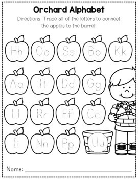 Fall Worksheets - No Prep Math and Literacy