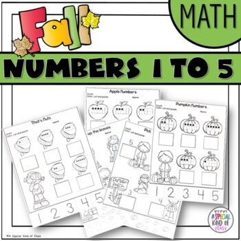 Fall No Prep Printables -  Numbers 1 to 5