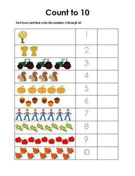 Fall Worksheets: Pre-K & Kindergarten