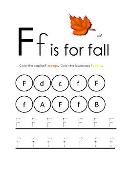 Fall Worksheets: Pre-K & Kindergarten