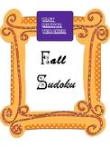 Math Worksheets - Fall Sudoku