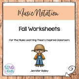 Fall Worksheets for the Music Learning Theory Inspired Classroom
