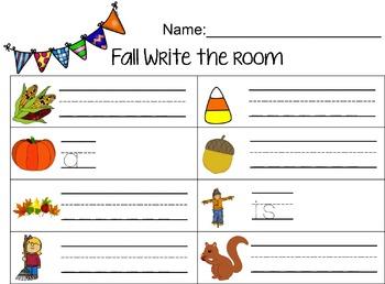 Fall Write The Room (Editable)