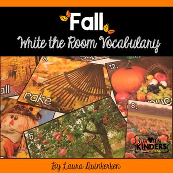 Fall Write The Room Vocabulary