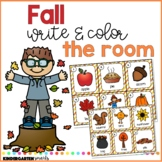 Fall Write and Color the Room