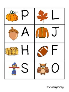 Fall Write the Room Alphabet Literacy Center Activity Pre-K Kindergarten