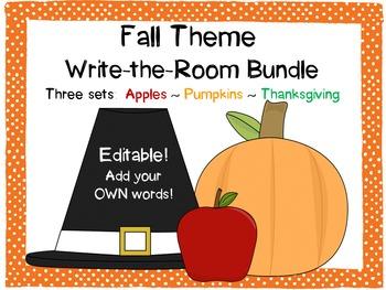 Fall Write-the-Room Bundle {Editable!}