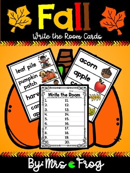 Fall Write the Room Center and Word Wall Cards