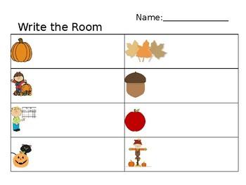 Fall Write the Room - Editable