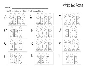 Fall Write the Room Math Stations